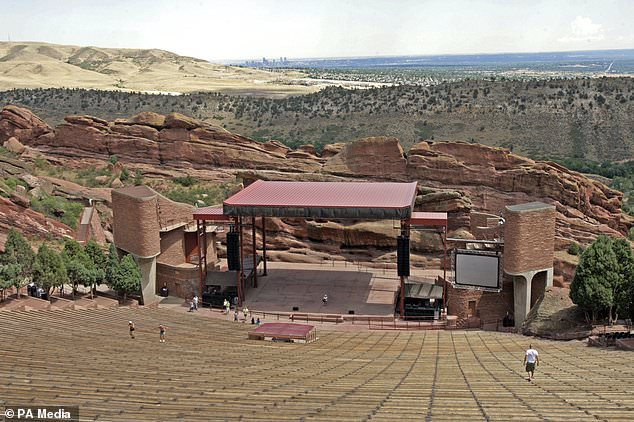 The Red Rocks venue outside Denver, Colorado (pictured) has hosted artists including REM, Incubus, Coldplay and U2