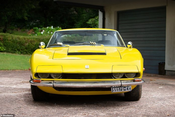 The stylish look means the ISO can easily be mistaken for a Ferrari or Lamborghini of the same generation.  In fact, Bonhams claims that one owner chose the Grifo instead of the 12-cylinder Ferrari because he