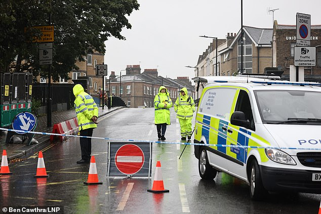 Emergency services at the scene at Great Western Road in Westminster