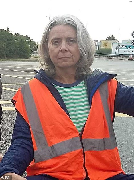 IT project managerJanine Eagling, 60, from London, helped to block the M25 and A13 junction yesterday