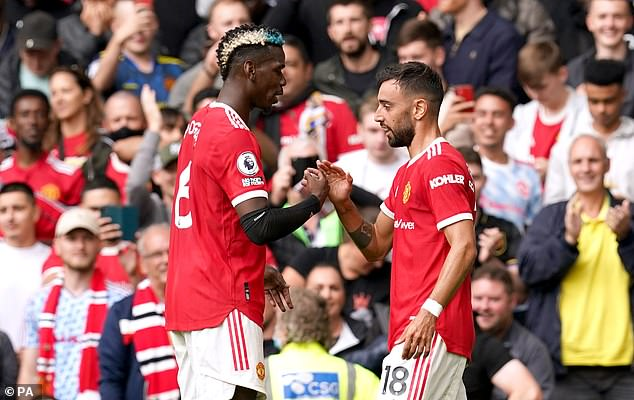 But Solskjaer suggested he wouldn't count an assist if Pogba plays a square pass and Bruno Fernandes hits it in the top corner