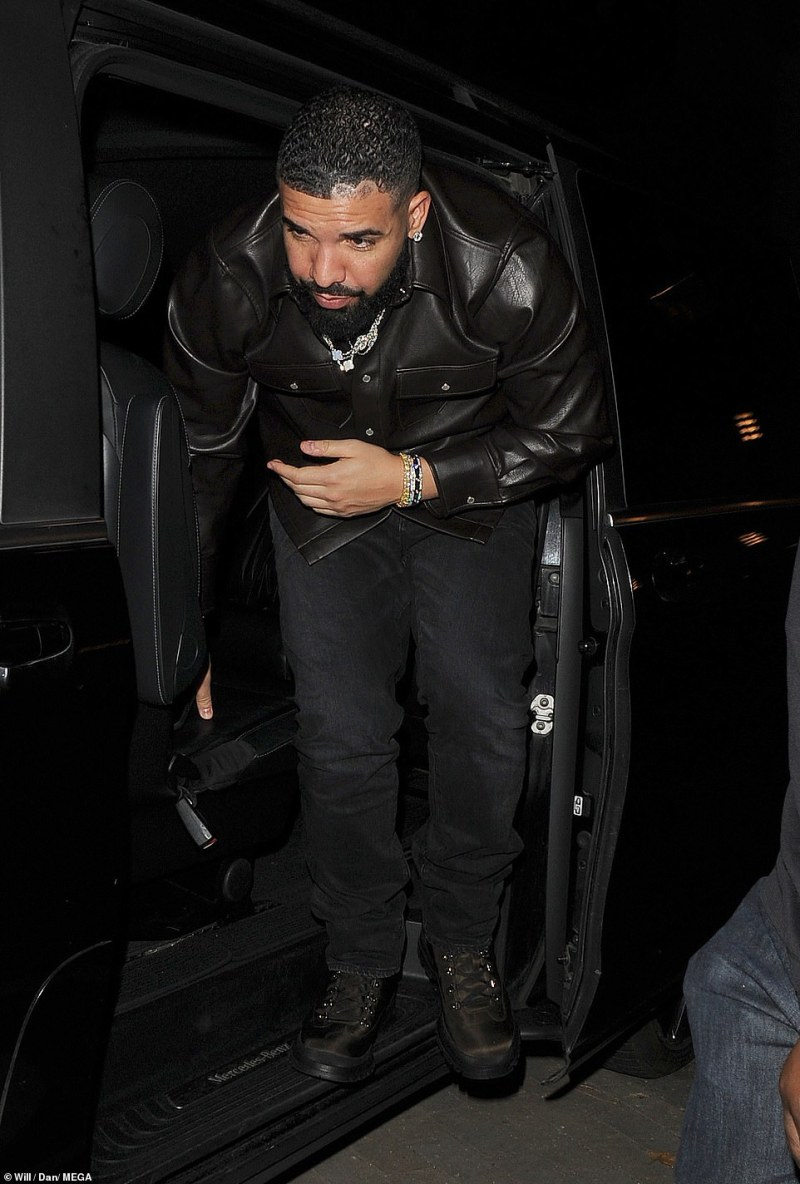 Music star: Rapper Drake also headed to the party after his performance at Wireless on the weekend