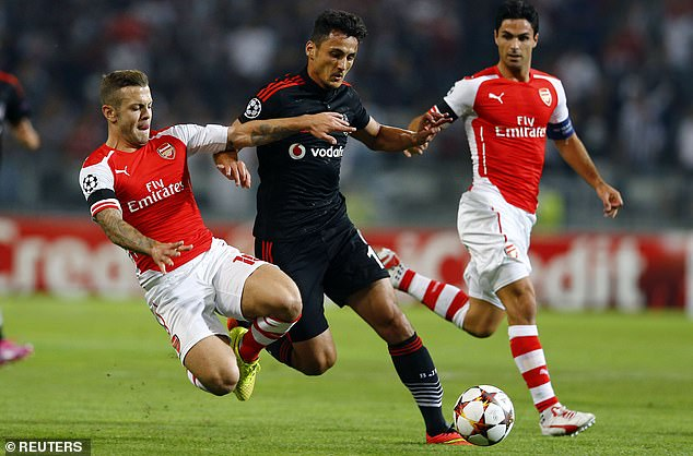 Wilshere (left) played alongside Arteta (right) in midfield at the Emirates from 2011-2016