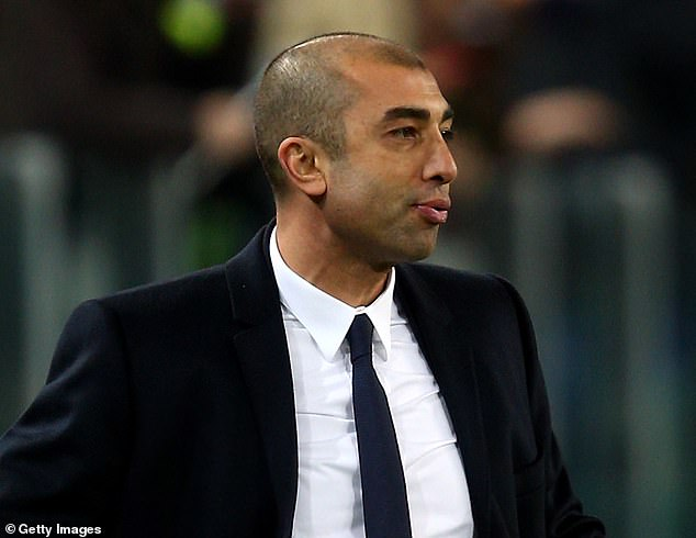 Roberto Di Matteo was sacked by Chelsea after their Champions League group stage knockout