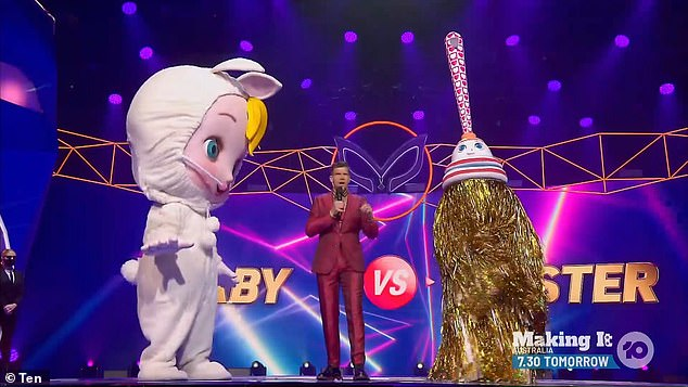 Showdown:The Duster competed against Baby during the episode, and finished in last place in viewer voting after they both performed