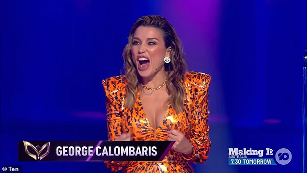 Wow: Judges Jackie 'O 'Henderson, Dave Hughes, Dannii Minogue (pictured) and Urzila Carlson appeared surprised by the reveal