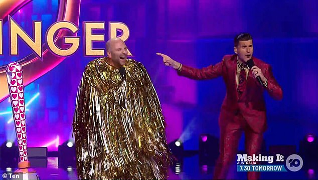Who would have thought? The celebrity chef was revealed after his rendition of the Ray Charles' classic Shake a Tail Feather failed to impress the show's virtual audience