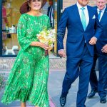 Queen Maxima of the Netherlands stuns in green crimped dress 💥👩💥