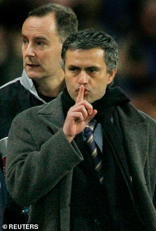 Mourinho soon made enemies of Liverpool fans after performing a silencing gesture