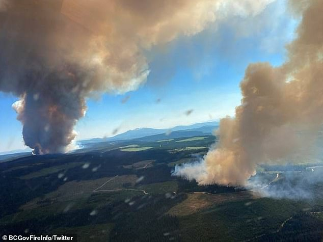 Should global warming continue apace, significant changes to the North Atlantic jet stream will manifest within a matter of decades, the researchers warned ¿ like the heat waves that struck the Pacific Northwest (causing wildfires in Canada, pictured) earlier this year