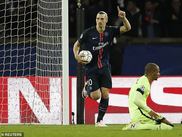 Ibrahimovic has scored 48 times in 120 appearances in the Champions League to date