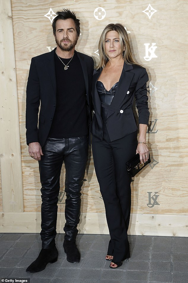 In the past:Jennifer began dating Justin Theroux in 2011 and the couple became engaged the following year before getting married in 2015 (seen in 2017)