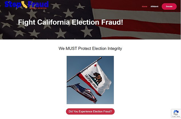 Elder's campaign set up a website to cast doubt on Tuesday's election results and to laythe groundwork to argue that Democrats stole the election