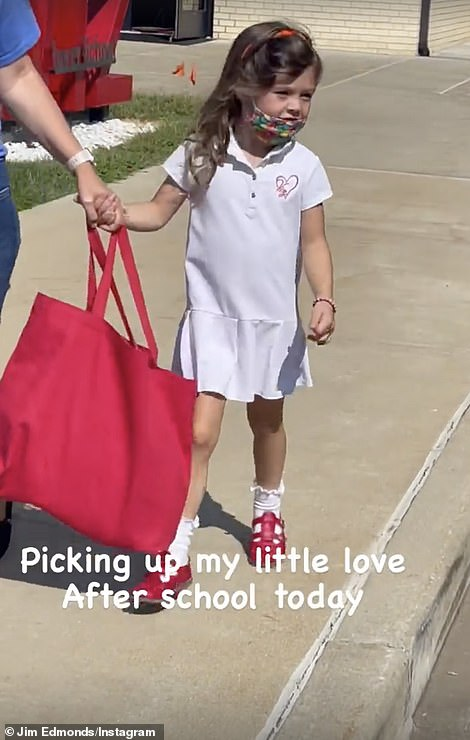 'Picking up my little love after school today'
