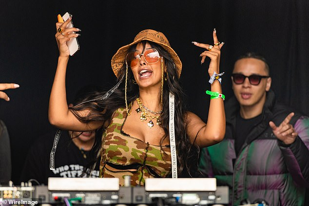 Slew of credentials: She set a new record as the youngest ever host of the MOBO Awards, has hosted the EE BAFTA film red carpet and ITV's Brit Awards Backstage show, as well as Stand up to Cancer and Comic Relief [pictured at Wireless Festival last weekend]