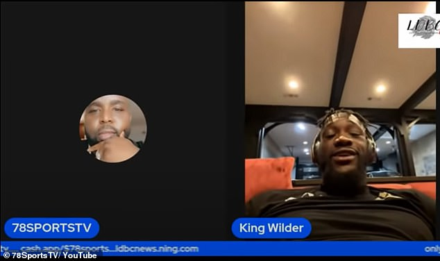 Wilder (right) claimed to 78SportsTV that Fury tries to get out of fights and may do it again