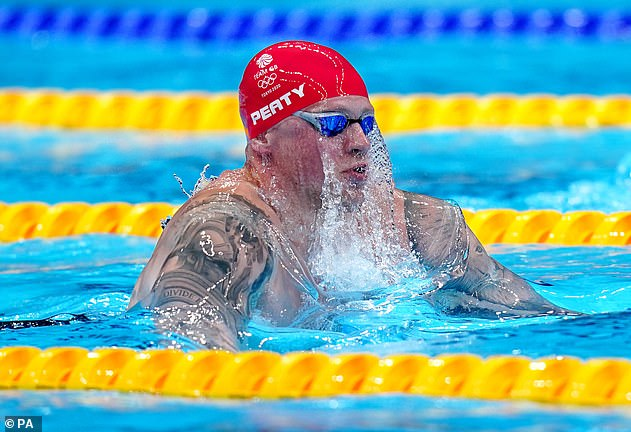 Determined: The swimmer tells MailOnline he believes there is an expectation he will 'work harder' in the training room after his Olympic success (pictured in Tokyo 2020)