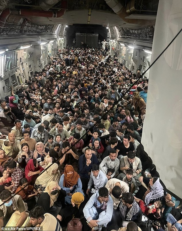 Here a plane of around 640 Afghan citizens was evacuated from heHamid Karzai International Airport in Kabul on August 15. There are concerns a lack of vetting could have led to terrorists slipping through the cracks