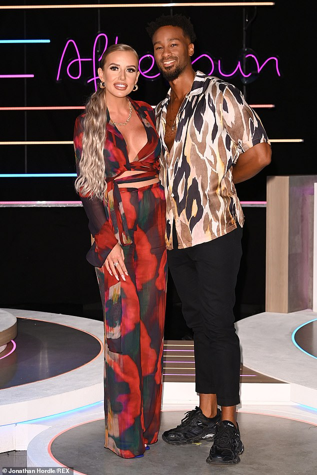 Here comes the bride? Love Island's Faye Winter has pledged to marry her on-screen partner Teddy Soares [pictured onLove Island: Aftersun - The Reunion]