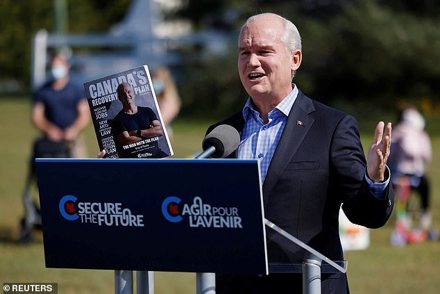Mr Trudeau called and early election in the hopes of winning a majority, but is now in danger of losing his job to Conservative challengerErin O'Toole
