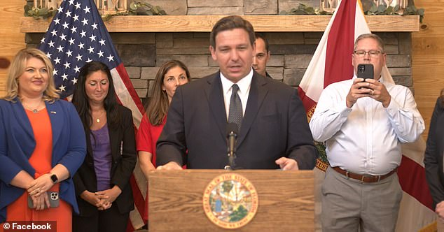 At a news conference on Monday, Florida Governor Ron DeSantis said the state would start fining municipalities that require their employees to be vaccinated $5,000 per employee