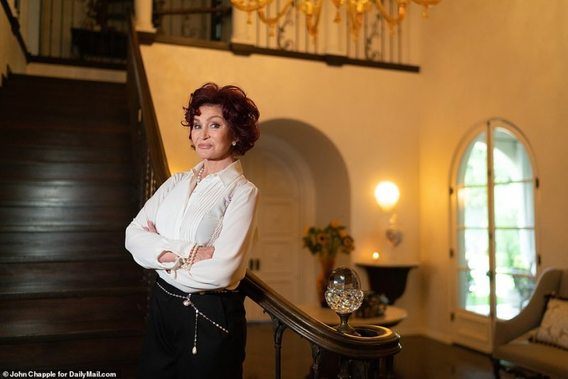Being honest:Sharon Osbourne opened up about her notoriously 'volatile' past with husband Ozzy in part two of her exclusive interview with DailyMailTV and revealed that their 'fights and arrests' will be featured in an upcoming biopic about the couple
