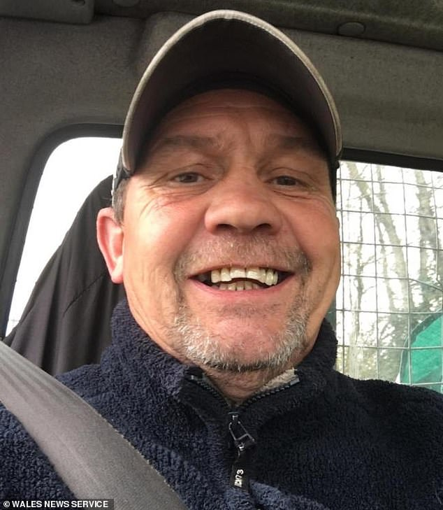 Recycling company boss Anthony Haines (pictured above), 51, broke into 52-year-old Jane's home in Caerphilly, Wales, and shut off the property's electricity supply, a court heard
