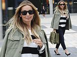Louise Redknapp puts on a stylish display in khaki jacket and skinny jeans