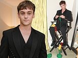 Tom Daley shares photos in a lace-up black suit from the Met Gala including him KNITTING backstage