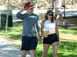 PICTURED: Jason Sudeikis reunites with Ted Lasso bombshell Keeley Hazell for hike