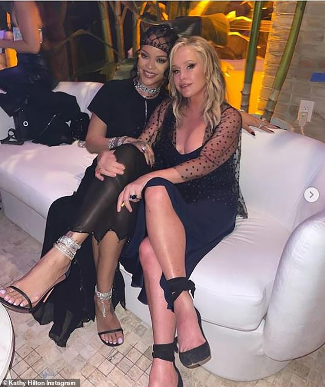Fan girl! Rihannais a long time Real Housewives super fan and she happily posed for a quick snap with Real Housewives of Beverly Hills star Kathy Hilton on Monday night at her Met Gala afterparty