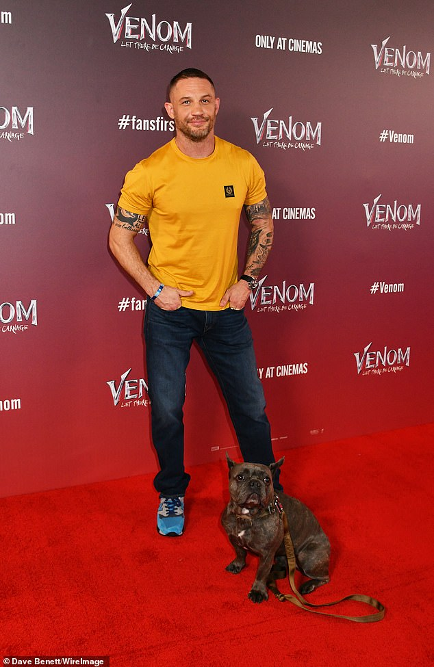 Comfort comes first: While Tom opted for a low-key look, his adorable dog ensured all eyes would be on the actor as he hit the red carpet