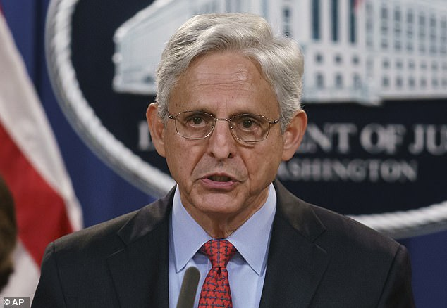 Attorney General Merrick Garland said 'no-knock' entries would only be allowedin situations 'where an agent has reasonable grounds to believe that knocking and announcing the agent's presence would create an imminent threat of physical violence to the agent and/or another person'