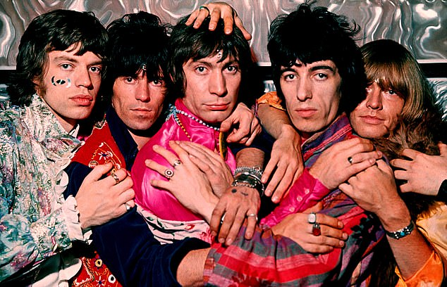 History: Alongside frontman Sir Mick and guitarist Keith, Charlie (pictured centre) was among the longest-standing members of the Stones, which has seen a shifting line-up of musicians including Mick Taylor, Ronnie and Bill Wyman