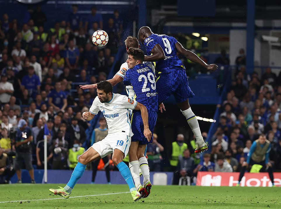 The striker climbed the highest to return home after Cesar Azpilicueta's cross in the middle of the second half of the European meeting.