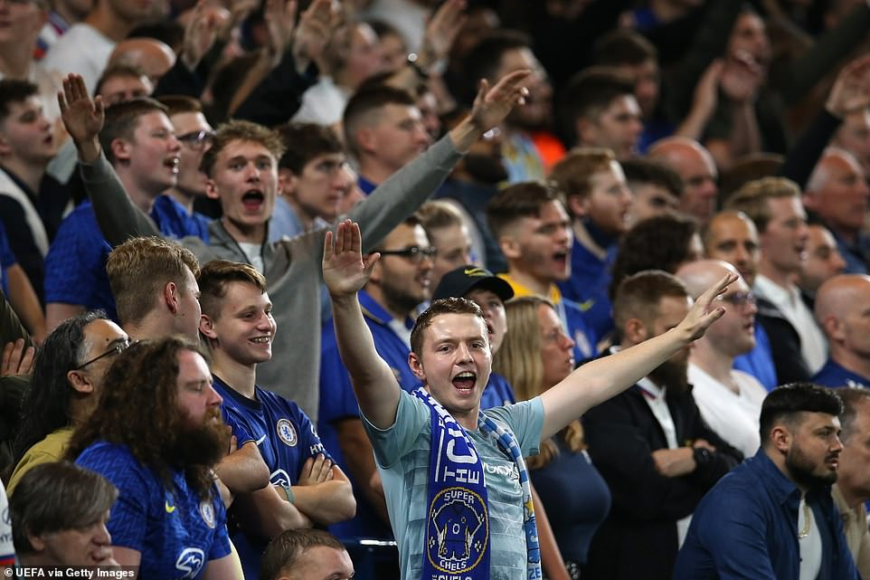 Stamford Bridge faithful were in high spirits as they watched their team get off to a good start in their trophy defense