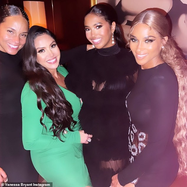 A-listers!  Bryant celebrated the Met Gala at Alicia's party with his daughter and BFF Ciara