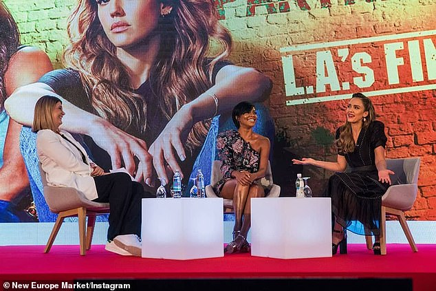 Screening & Q&A: The LA's Finest star producer was in Dubrovnik promoting her Spectrum series alongside teammate Jessica Alba (R) at the New Europe Market at the Palace Hotel