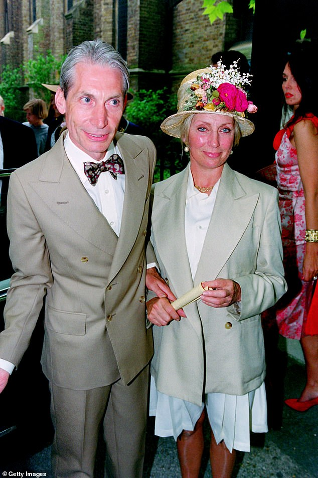 Relationship: Sam Cutler, the band's former tour manager, said Charlie was 'devoted' to his wife Shirley (pictured together in 1992)