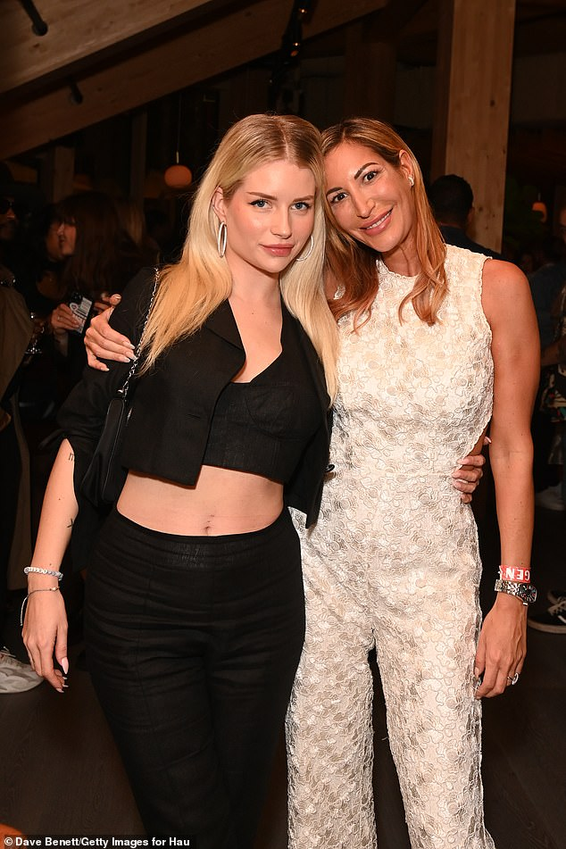 Sharing the spotlight:Elsewhere, Lottie also shared sweet photo moments with Game Of Thrones' actress Laura Pradelska