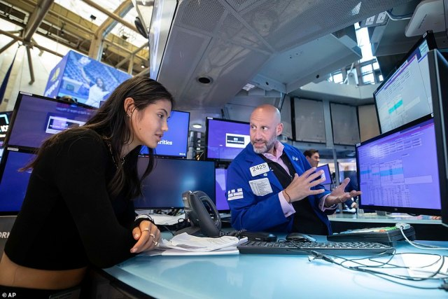 Miss Raducanu spent part of Tuesday being given a tour of the trading floor of the New York Stock Exchange