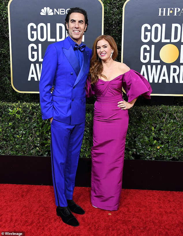 Back to her hometown: Isla Fisher and her Borat star husband Sacha Baron Cohen have 'relocated to her hometown of Perth to escape Sydney lockdown' after moving to Australia