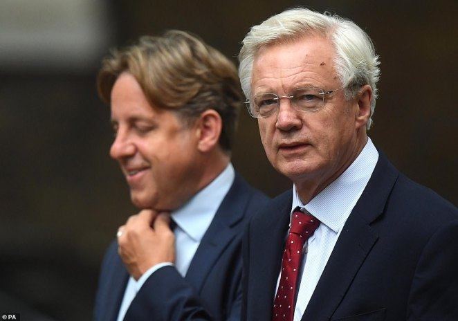 It was left to the brave Conservative MP Marcus Fysh (pictured left, next to David Davis) to provide some political resistance, calling for the head of the CMO