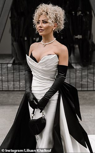Coincidence? Lillian married her partner Moei Elayoubi in April, walking down the aisle in a strapless, white gown with a plunging corset bodice