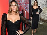 Frankie Bridge puts on a busty display in a black form-fitting dress for the Who Cares Wins Awards