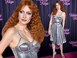 Jessica Chastain attendsThe Eyes of Tammy Faye red carpet premierein NYC with husband