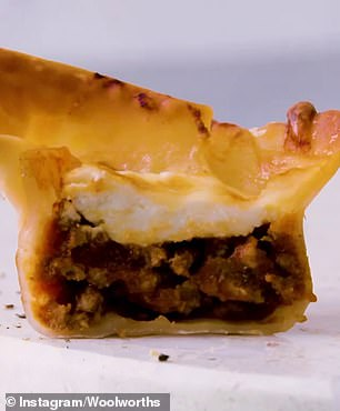 After creative experimentation, Woolworths chefs developed a recipe for 'lasagne bites' (pictured), snack-sized pieces of the family favourite encased in ready-made wonton wrappers instead of the traditional pasta sheets