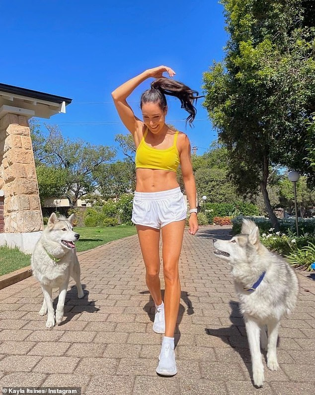 Personal trainer Kayla Itsines (pictured), from Adelaide, South Australia, shared the secret to perfecting your push ups at home