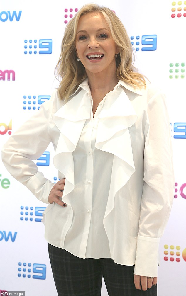 Plot: The six-part series Back to the Rafters will see the cast return to Sydney as they celebrate Dave (Erik Thomson) and Julie Rafter's (Rebecca Gibney, pictured) 35th wedding anniversary