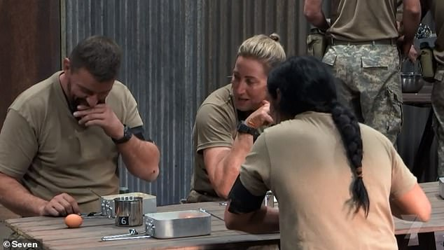 'It's not food':Tuesday's episode saw celebrity chef Manu complain about the selection of food offered while competing on the military style series